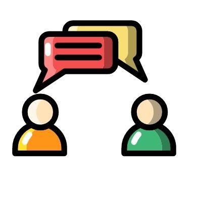 Dialog om dine behov og ønsker ikon
